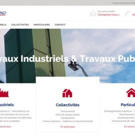 Site vitrine – Travaux industriels & travaux publics
