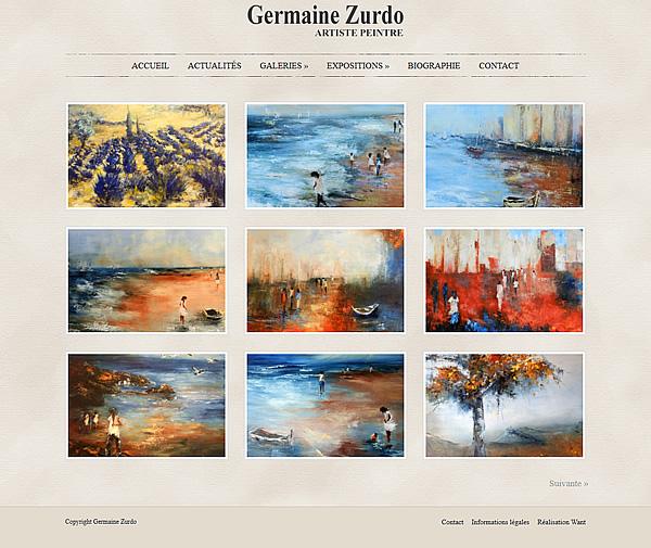 Site Internet pour artiste peintre