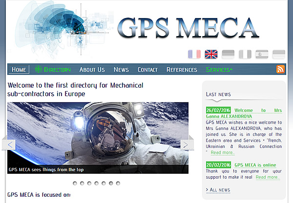GPS Méca, le premier annuaire de sous-traitance mécanique Europe