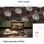 Site Internet pour écrivain - Gilles Croquant